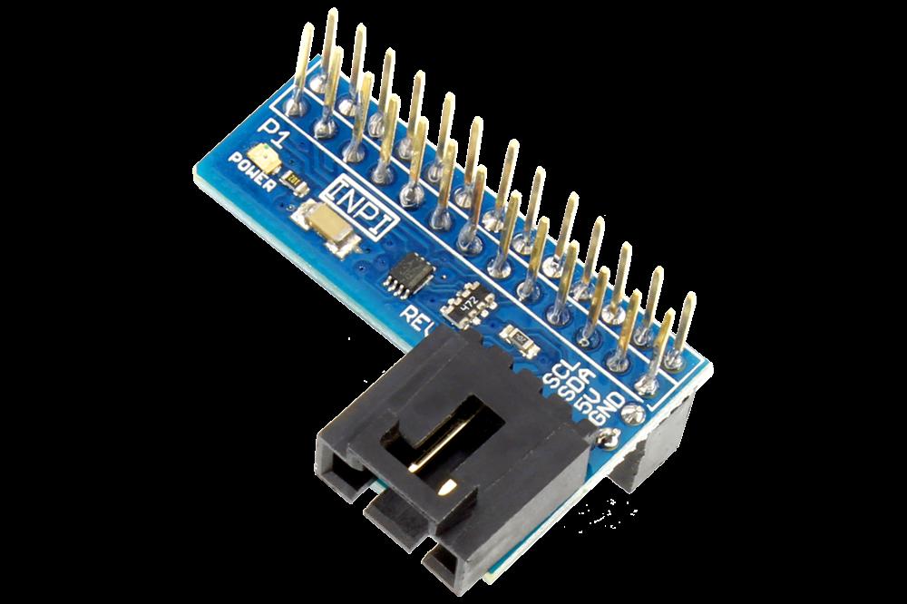 I2C Shield for Raspberry Pi with Inward Facing I2C Port