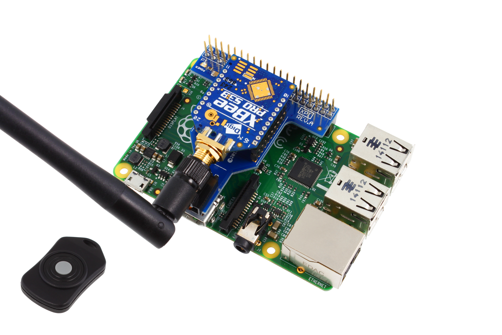 I2C Shield for Raspberry Pi 2 & 3 with Outward Facing I2C and  Communications Port - store ncd io