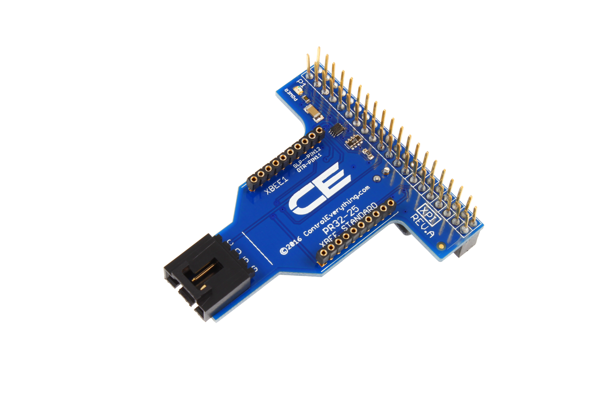 I2C Shield for Raspberry Pi 2 & 3 with Outward Facing I2C and  Communications Port