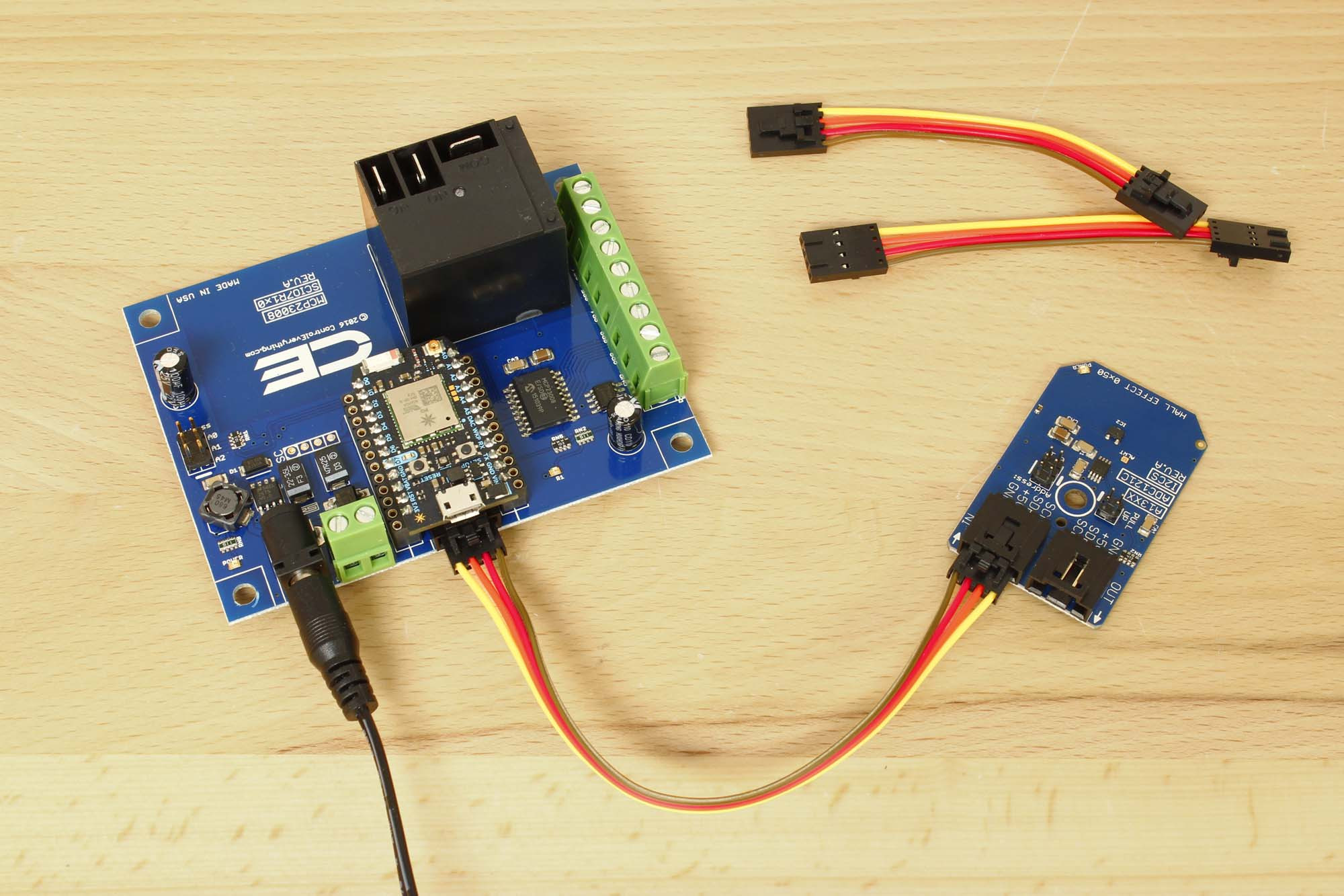 A1325 Hall Effect Sensor 3125 Mv G With Adc121c 12 Bit Resolution Wiring Wireless Position