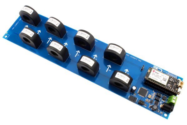 DLCT03C20 Current Monitoring Controller 8-Channel 5-Amp with Cellular Connectivity using Particle Electron