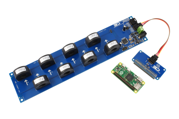 AC Current Monitoring for Raspberry Pi Zero 8-Channel 10-Amp