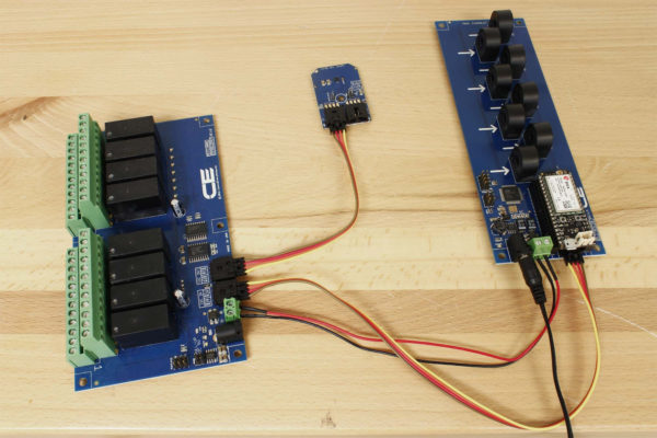 DLCT03C20 I2C Current Monitoring Controller 8-Channel 20-Amp 5% Accuracy with Cellular Connectivity using Particle Electron