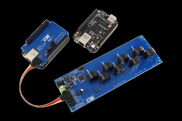 I2C Current Monitoring 8-Channel 5-Amp for BeagleBone Black