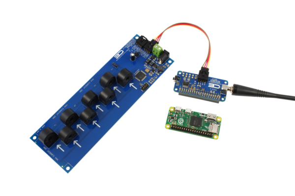 I2C Current Monitoring 8-Channel with Key Fob  for Raspberry Pi Zero