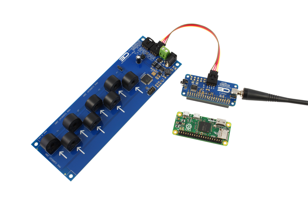 8 channel on board 95% accuracy 20 amp ac current monitor with i2ci2c current monitoring 8 channel with key fob for raspberry pi zero