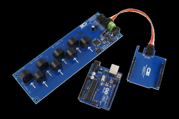 Arduino Uno Current Measurement 8-Channel 15-Amp I2C
