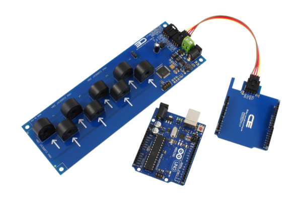 Arduino Uno Current Measurement 8-Channel 10-Amp I2C