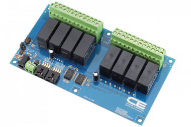 Raspberry Pi 2 8 Channel DPDT Relay Board