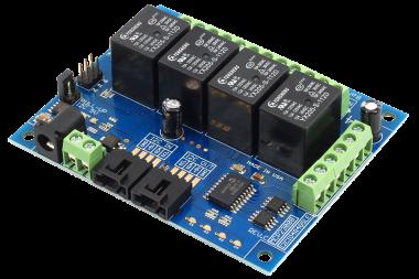 GPIO + Relay Control using I2C Interface