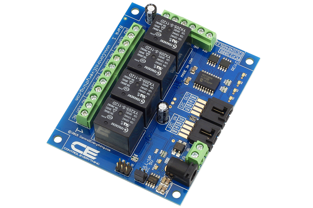 Enjoyable 4 Channel General Purpose Spdt Relay Controller 4 Gpio With I2C Wiring Digital Resources Bemuashebarightsorg