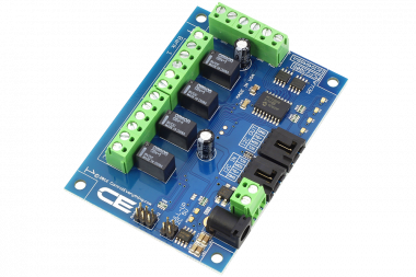 I2C Relay Controller 4-Channel Signal Relay 1-Amp SPDT 4 Programmable Digital Inputs/Outputs