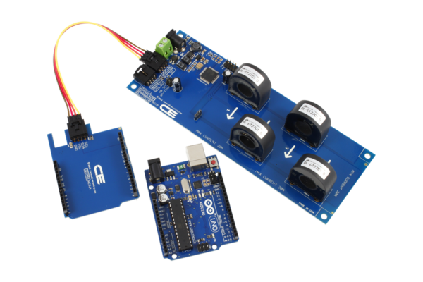 AC Current Monitoring for Arduino Uno 4-Channel 30-Amp