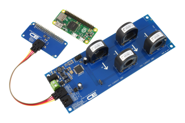 AC Current Monitoring for Raspberry Pi Zero 4-Channel 30-Amp