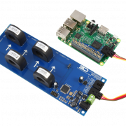 AC Current Monitoring for Raspberry Pi 3 4-Channel 30-Amp
