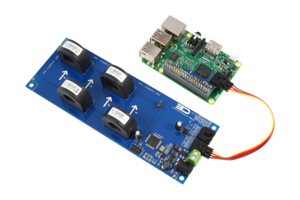 AC Energy Monitoring for Raspberry Pi 3 4-Channel 70-Amp