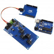 I2C Energy Monitoring for Arduino Uno 4-Channel 20-Amp Range