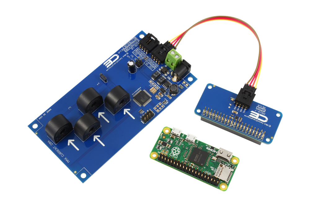 4 channel on board 95% accuracy 20 amp ac current monitor with i2ci2c energy monitoring for raspberry pi zero 4 channel 15 amp range