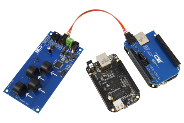 I2C Energy Monitoring for BeagleBone Black 4-Channel 15-Amp Range