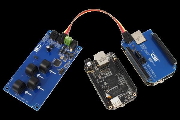 I2C Energy Monitoring for BeagleBone Black 4-Channel 10-Amp Range