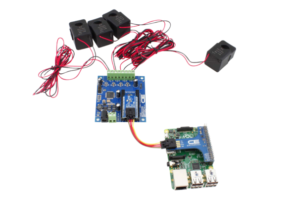 Measure Energy Usage with Raspberry Pi 3 and Four 50-Amp Sensors
