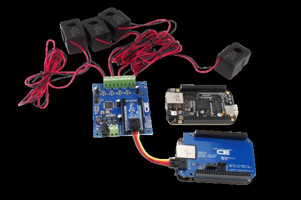 Energy Monitoring Controller 4-Channel 50-Amp for BeagleBone Black