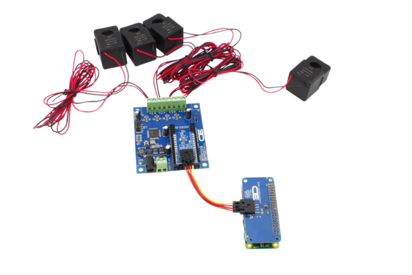 Energy Monitoring Controller 4-Channel 50-Amp for Raspberry Pi Zero