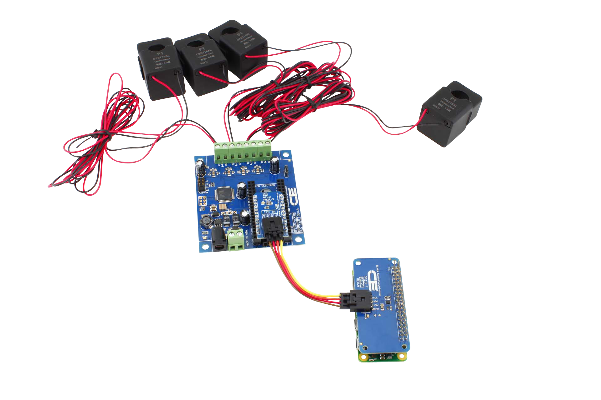 4-Channel Off-Board 98% Accuracy 100-Amp AC Current Monitor with IoT ...