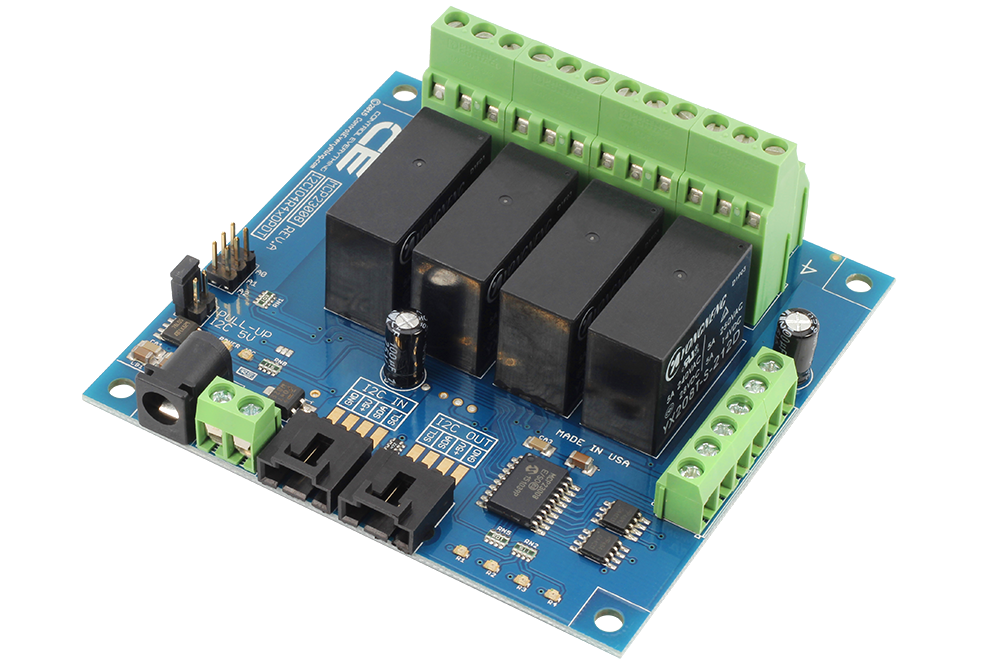 4-Channel DPDT Signal Relay Controller + 4 GPIO with I2C Interface ...