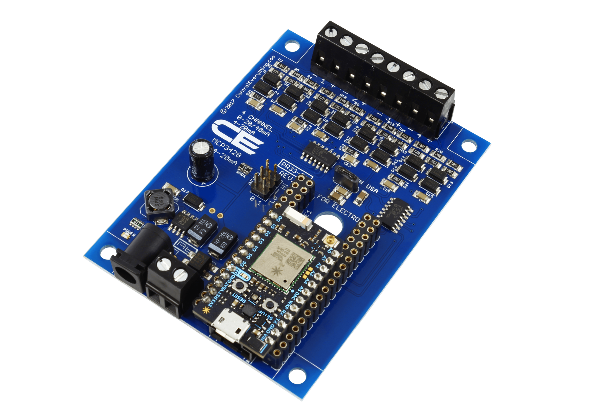 Mcp3428 4 Channel 20ma 16 Bit Current Receiver With Iot Interface Circuit Diagram