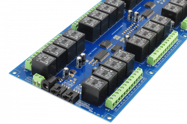 24-Channel Relay Board I2C 8 Digital Input Output
