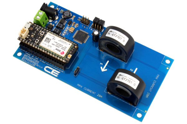 Cellular AC Current Monitoring Controller 2-Channel 20-Amp
