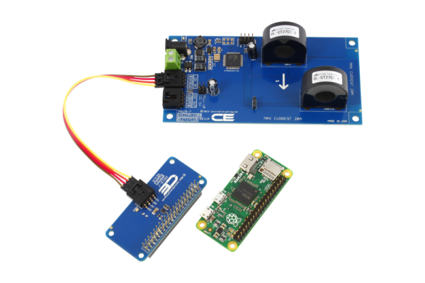 AC Current Measurement for Raspberry Pi Zero 2-Channel I2C 30-Amp