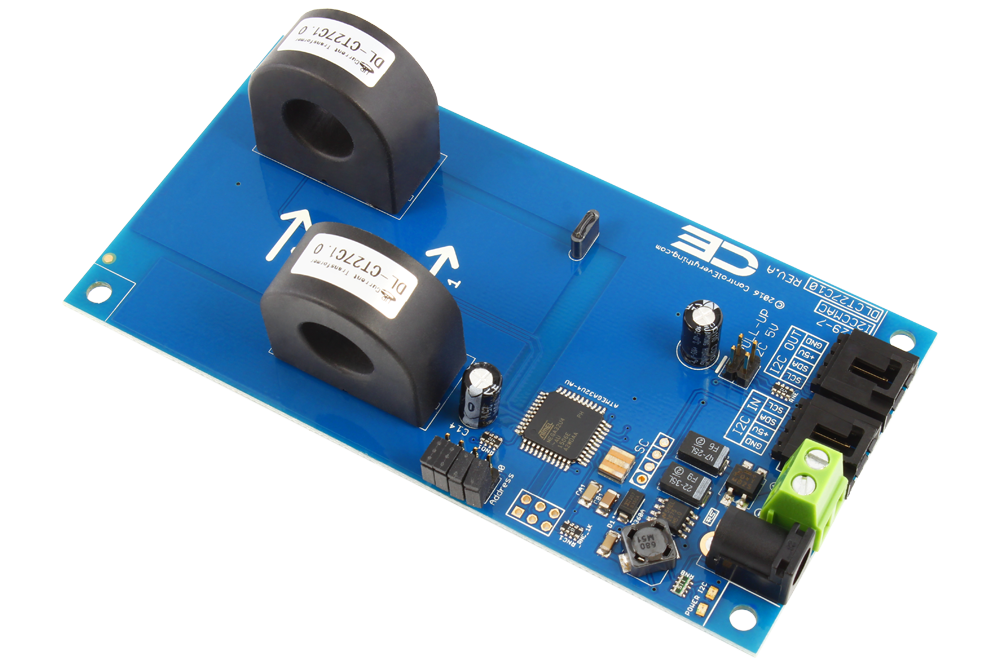 2 channel on board 97% accuracy ac current monitor with i2c