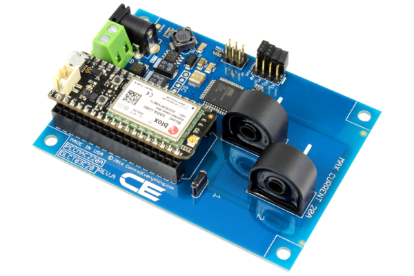 DLCT03C20 Current Monitoring Controller 2-Channel 20-Amp with Cellular Connectivity using Particle Electron