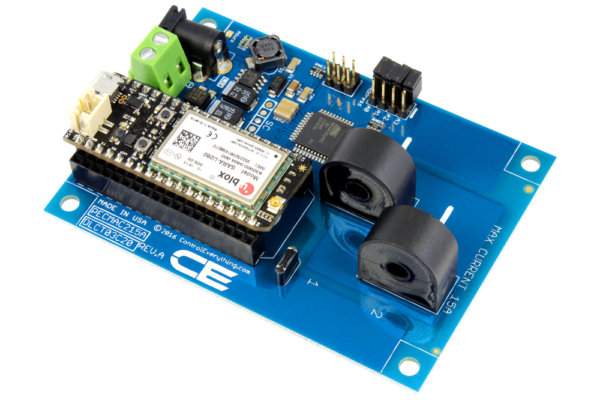 DLCT03C20 Current Monitoring Controller 2-Channel 15-Amp with Cellular Connectivity using Particle Electron
