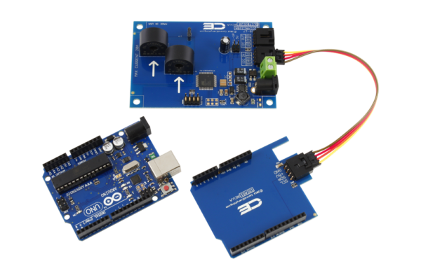 I2C Energy Monitoring for Arduino Uno 2-Channel 5-Amp Range