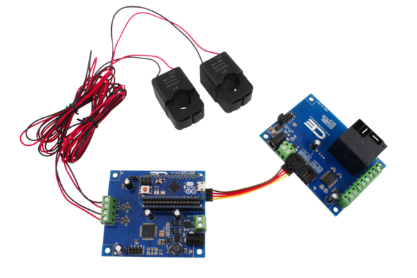 OPCT16AL I2C Energy Monitoring Controller 2-Channel 10-Amp High Accuracy with Cellular Connectivity using Particle Electron