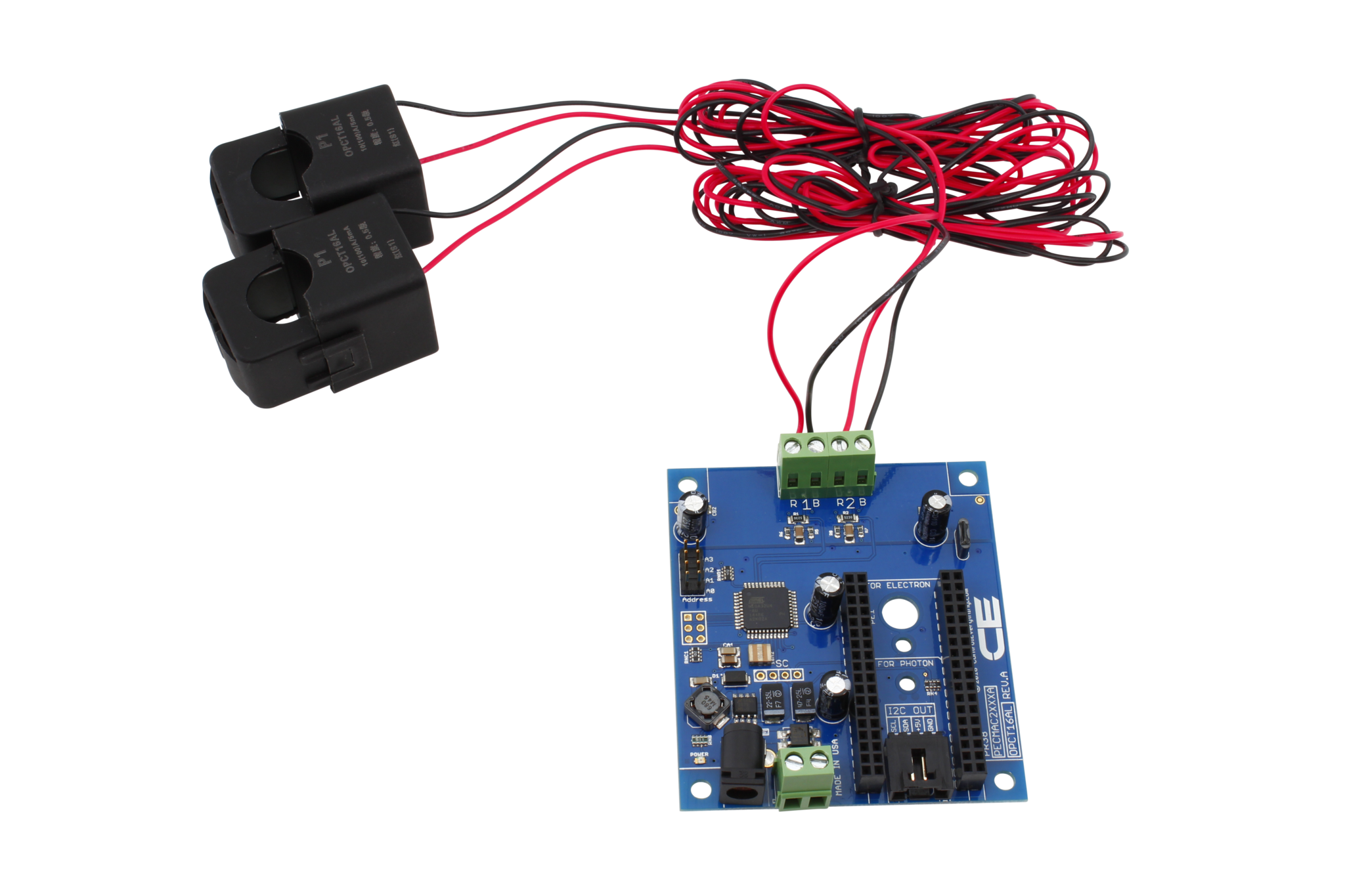 PECMAC2XXXA_OPCT16AL_1 2 channel off board 98% accuracy ac current monitor with iot Arduino I2C at cos-gaming.co