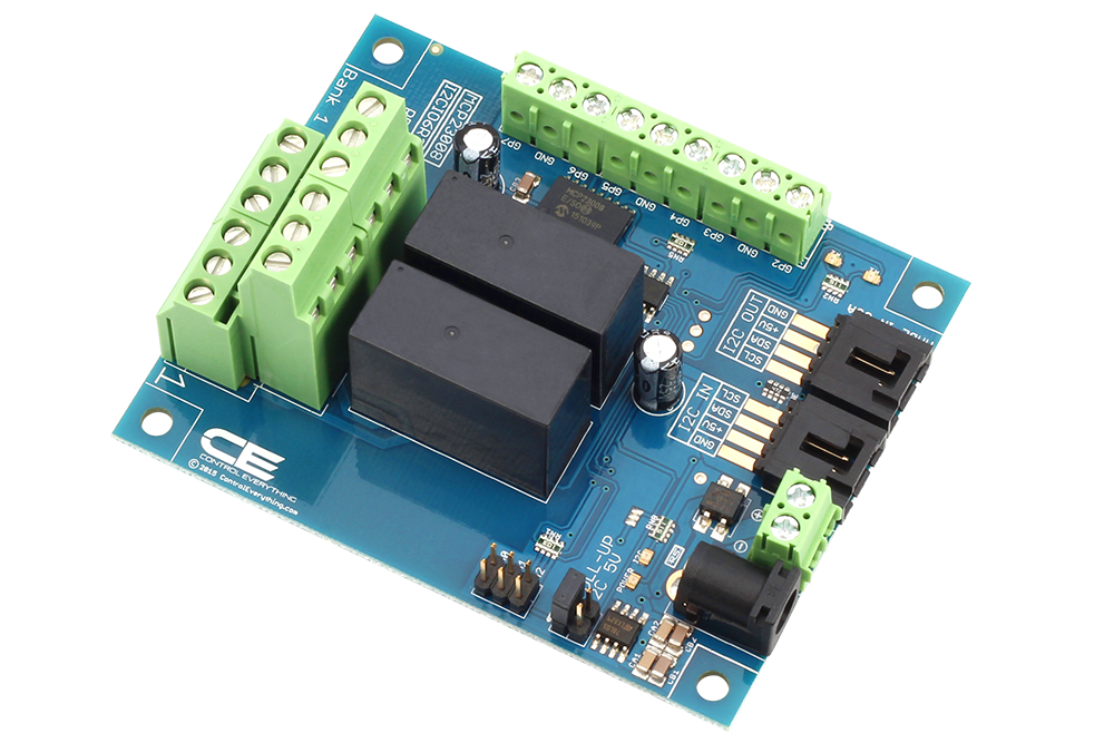 2-Channel DPDT Signal Relay Controller + 6 GPIO with I2C Interface