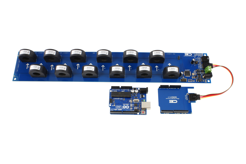 12-Channel On-Board 97% Accuracy AC Current Monitor with I2C Interface -  store ncd io