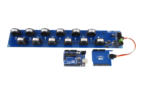 AC Energy Metering with Arduino Uno 12-Channel 30-Amp