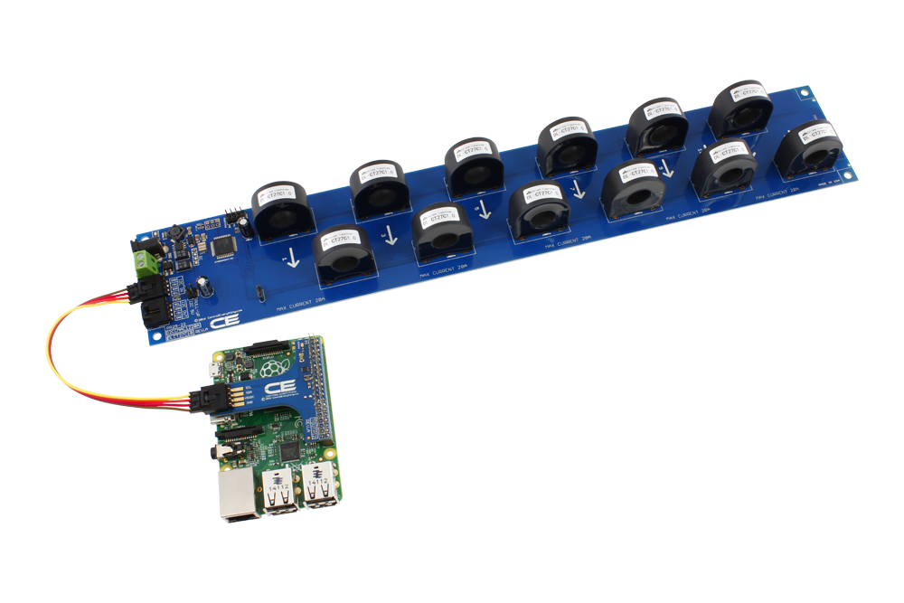 12 channel on board 97% accuracy ac current monitor with i2c
