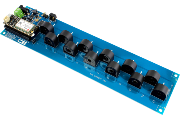 DLCT03C20 Current Monitoring Controller 12-Channel 15-Amp with Cellular Connectivity using Particle Electron