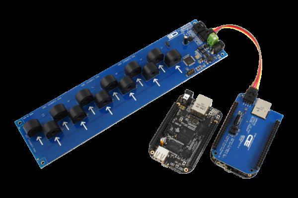 BeagleBone Black Current Monitoring 12-Channel 20-Amp 95% Accuracy