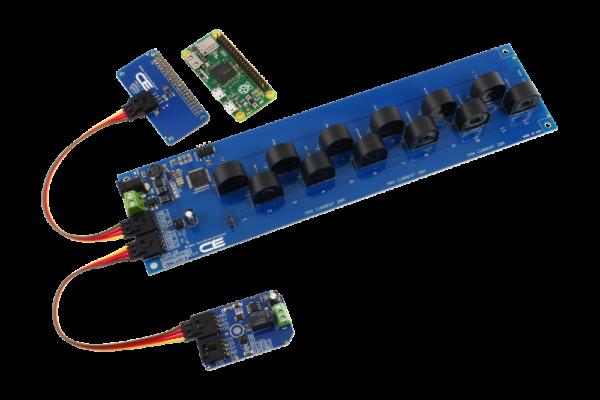 Raspberry Pi Zero Current Monitoring 12-Channel + Relay Mini Module