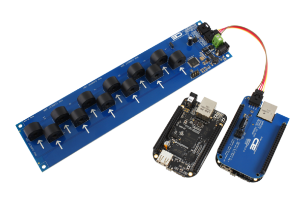 Energy Monitoring for BeagleBone 12-Channel 10-Amp 95% Accuracy