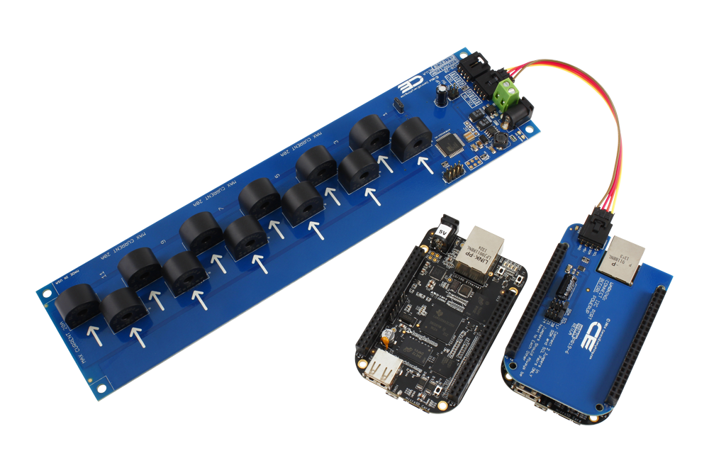 12-Channel On-Board 95% Accuracy AC Current Monitor with I2C Interface -  store ncd io