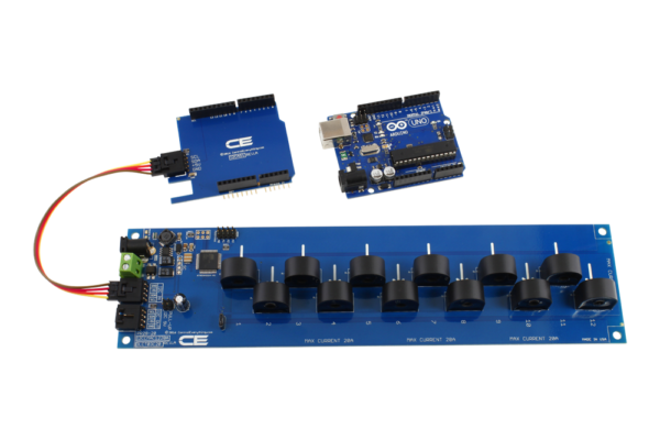 I2C Energy Monitoring for Arduino Uno 12-Channel 5-Amp