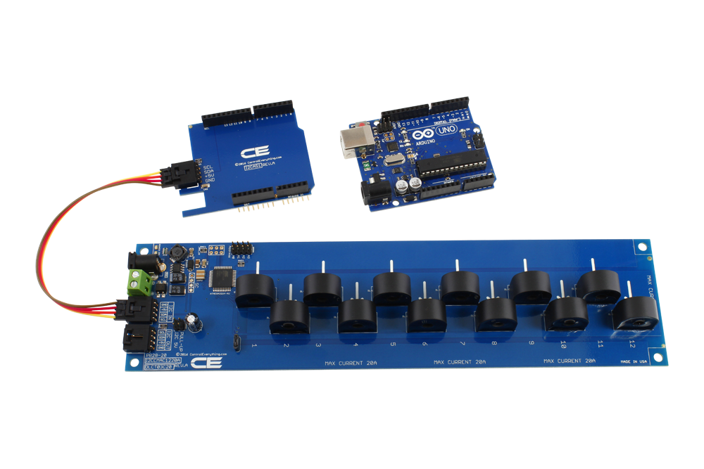 12 channel on board 95% accuracy ac current monitor with i2cenergy monitoring for arduino uno 12 channel 10 amp 95% accuracy